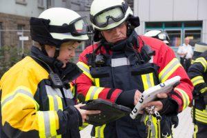 Übung der Feuerwehr Mettmann am Ev. Krankenhaus
