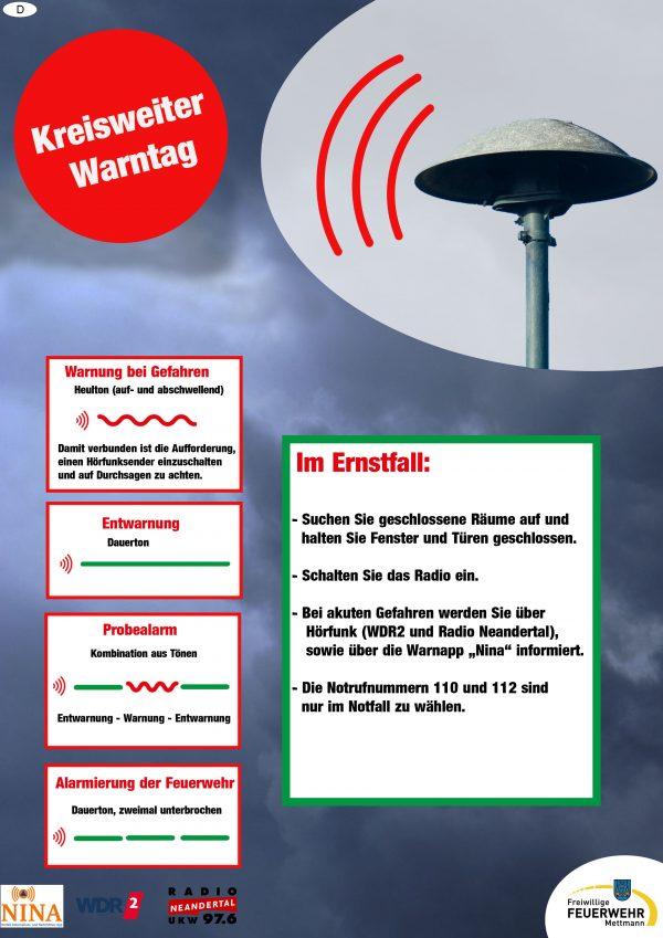 sirenenalarm mettmann heute